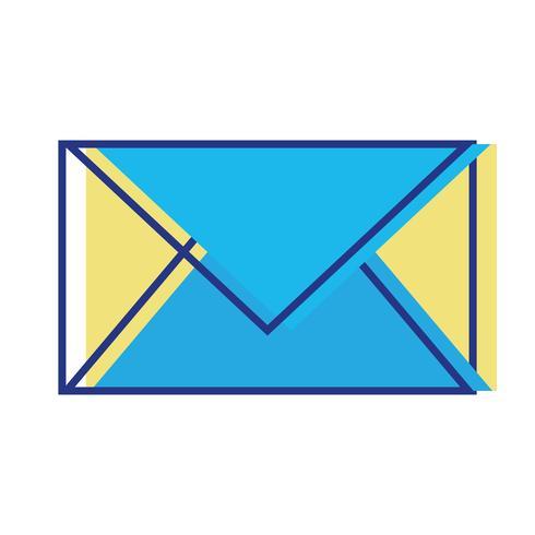 kleur briefkaart afgesloten met berichtinformatie vector