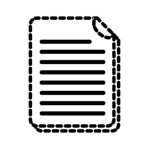 gestippelde vorm bedrijfsdocumentinformatie aan bedrijfsinformatie vector
