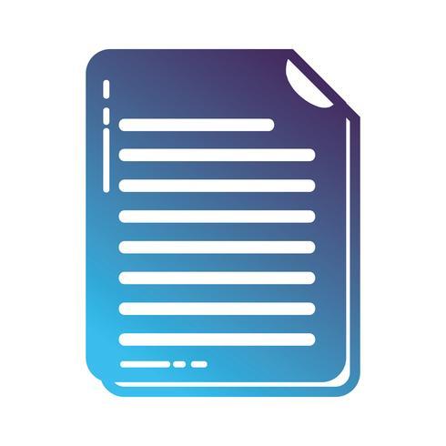silhouet zakelijke documentinformatie naar bedrijfsinformatie vector