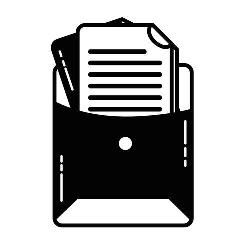 contour bestandsmap met bedrijfsdocumentinformatie vector