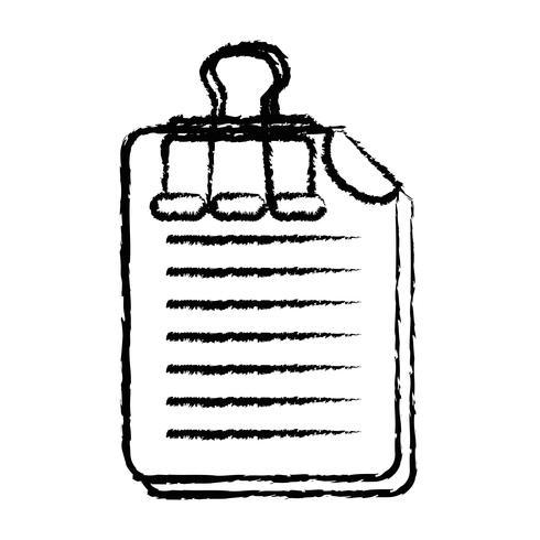 figuur bedrijfsdocumentinformatie met clipontwerp vector