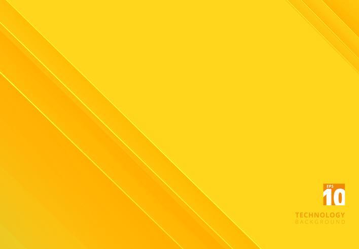 De abstracte achtergrond van de het patroon gele kleurentoon van technologie gestreepte overlappende diagonale lijnen met exemplaarruimte. vector