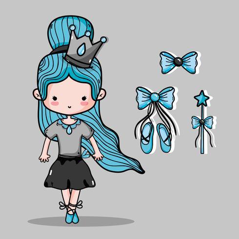 ballerina accessoires decoratie tot elegantie prestaties vector