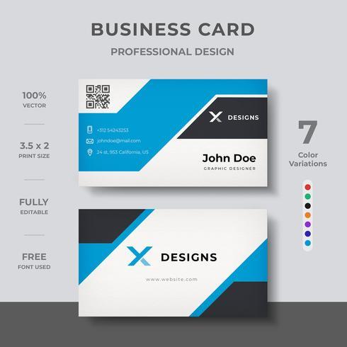 Creatief visitekaartje ontwerp vector