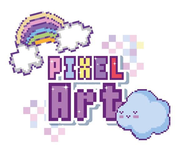 pixel kunst concept vector