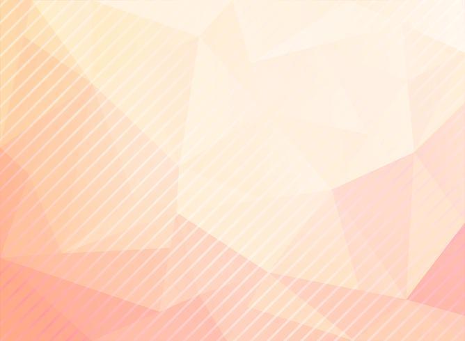 Abstract laag polydriehoekenpatroon met diagonale lijnentextuur op pastelkleurenachtergrond. vector
