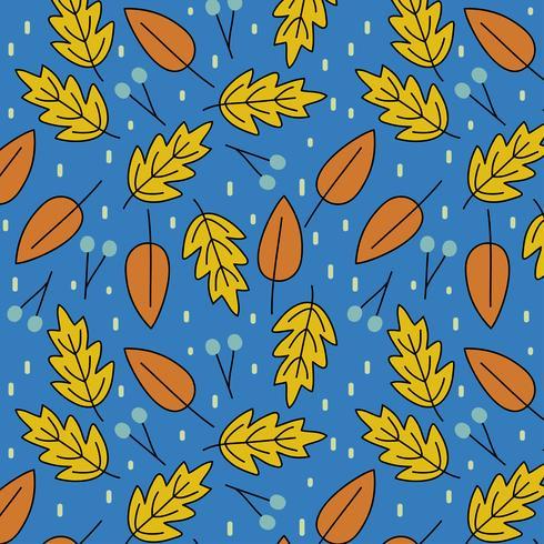 Naadloos patroon met de herfstbladeren vector