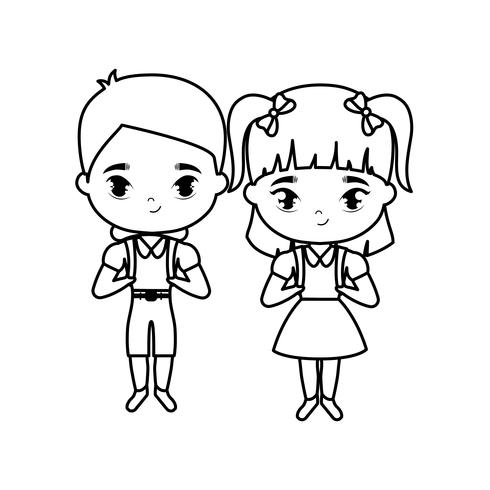 schattige kleine studenten avatar karakter vector