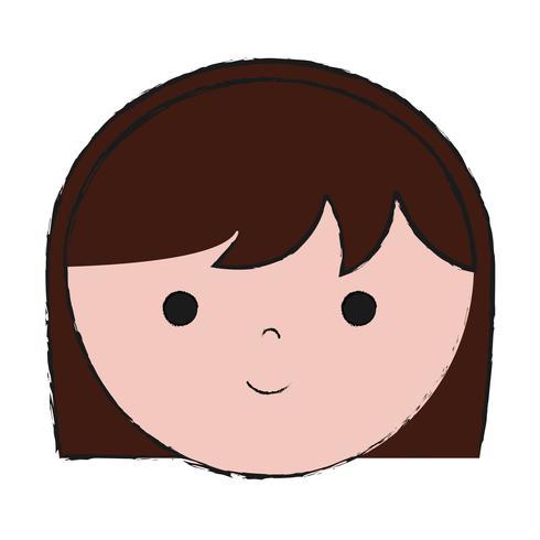 cartoon vrouw pictogram vector
