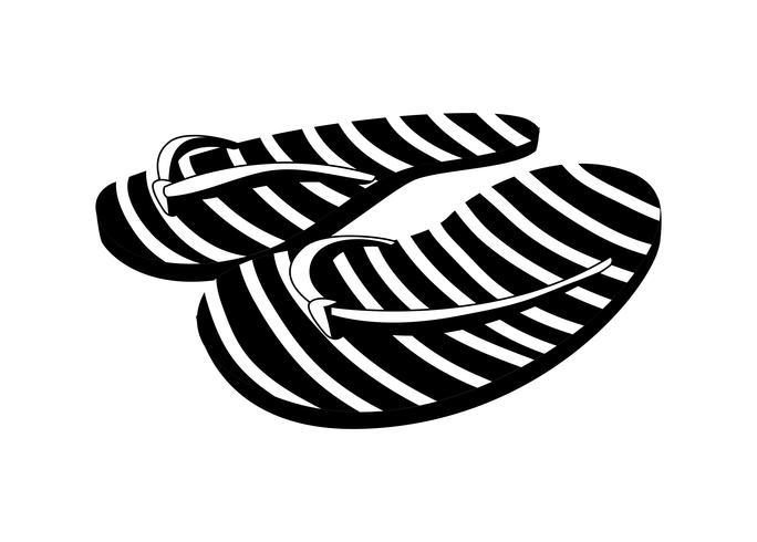 sandalen flip flops zomer pictogrammen vector