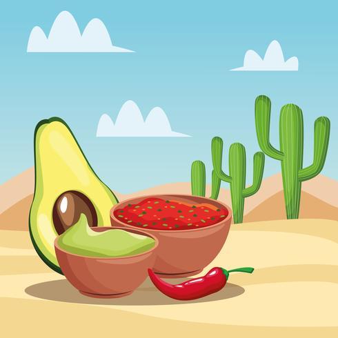 Mexicaans eten tekenfilms vector