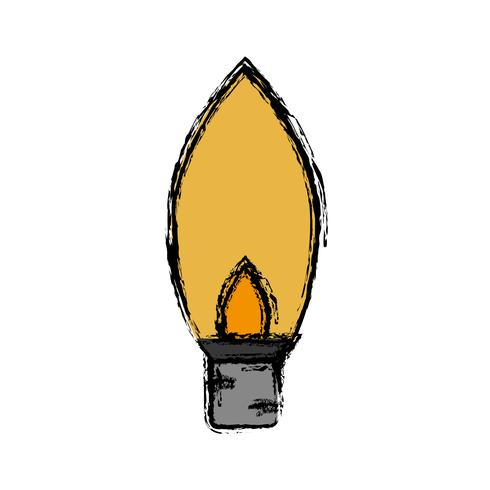 gloeilamp pictogram vector