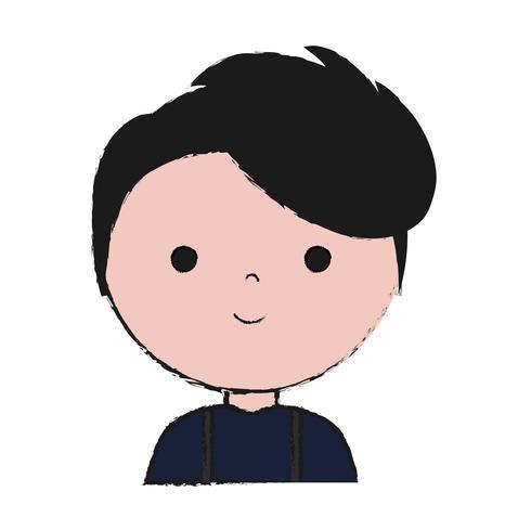 cartoon man pictogram vector
