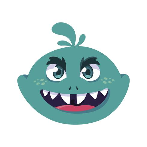 grappige monster komische karakter avatar vector