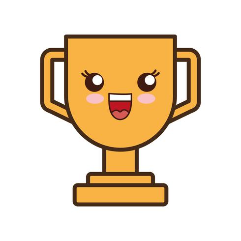 trofee cup pictogram vector