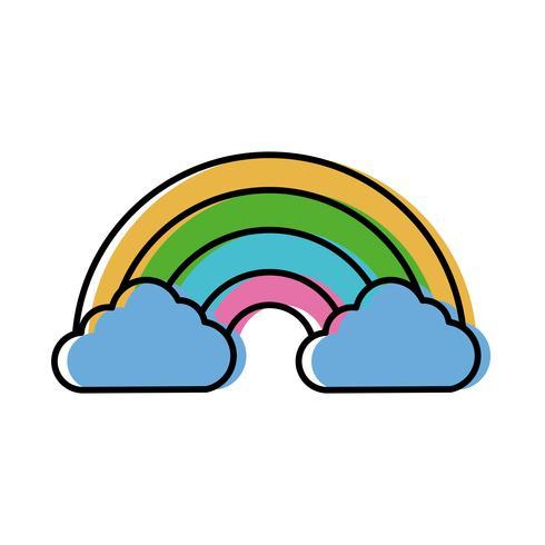 regenboog pictogramafbeelding vector