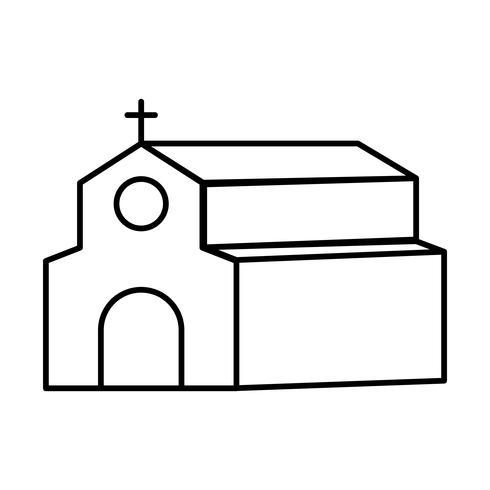 kerkgebouw pictogram vector