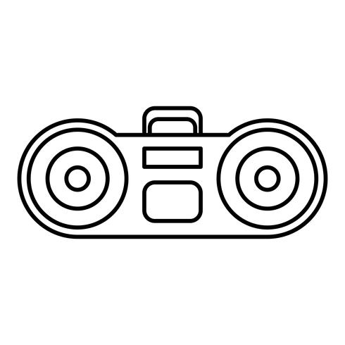 boombox stereo systeempictogram vector