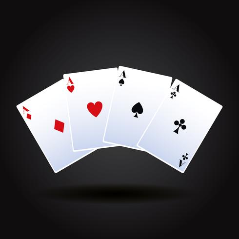 Pokerkaartspel vector