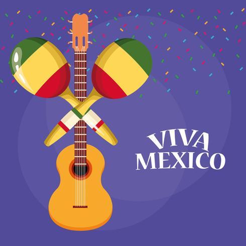 Viva Mexico-tekenfilms vector