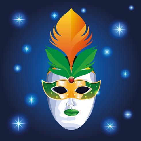 Mardi gras-masker vector