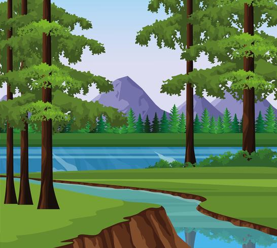 Wanderlust landschap landschap vector