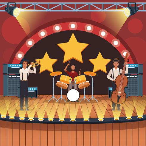 Muziekband cartoon vector
