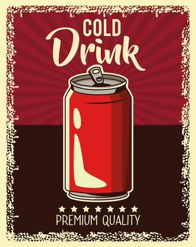 vintage drankje poster vector