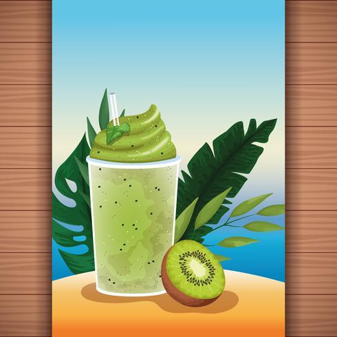 Zomer tropisch verfrissing vruchtensap vector