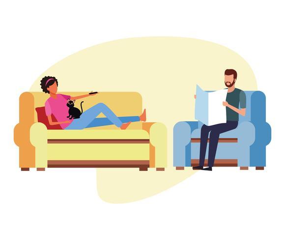 activiteiten en vrije tijd thuis vector