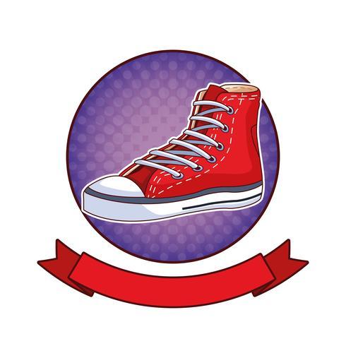 Mode schoen popart cartoon vector