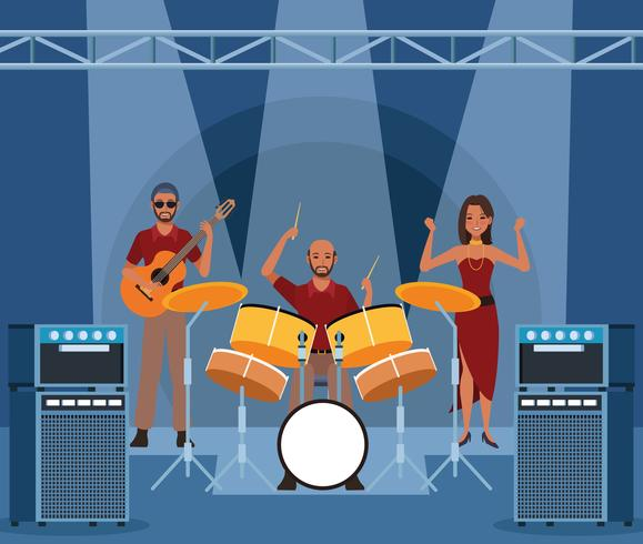 Muziekband cartoon vector