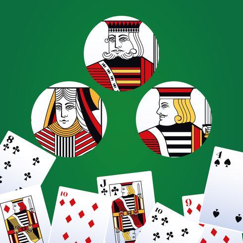 Poker vrijetijdskaarten vector