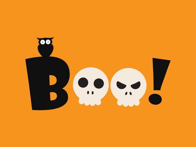 Vector illustratie van Halloween-boe-geroep - het malplaatje van de groetkaart