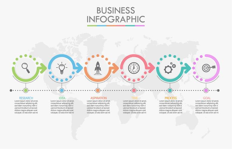 Visualisatie van bedrijfsgegevens. vector
