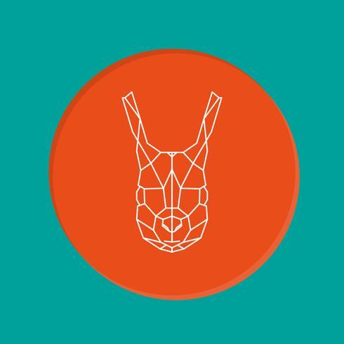 Eekhoorn geometrische hoofd pictogram. vector