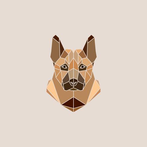 Duitse herder hond portret vectorillustratie vector