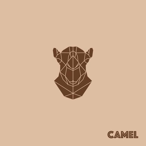Abstracte driehoek geometrische kameel vector