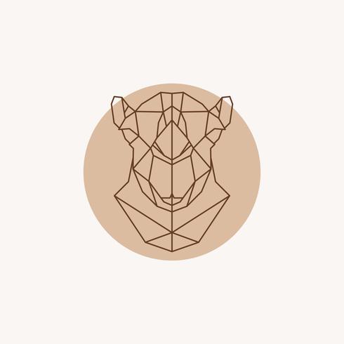 Geometrische illustratie van een hoofdkameel. vector