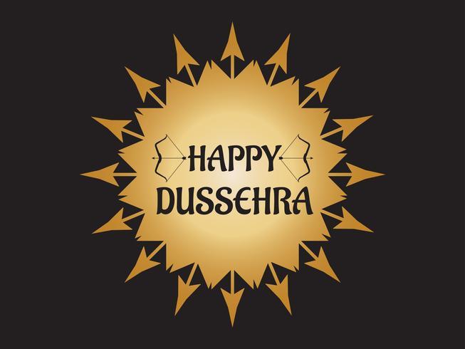 Gelukkig Dussehra-festival van de decoratie van India met pijl en boogachtergrond vector
