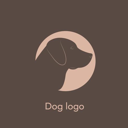 Veterinair logo. Hond Labrador. vector