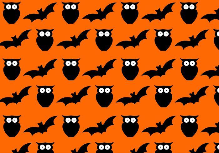 Naadloos Halloween-patroon vector