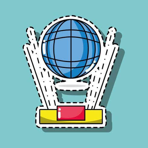 wereldwijde verbindingstechnologie patch sticker vector