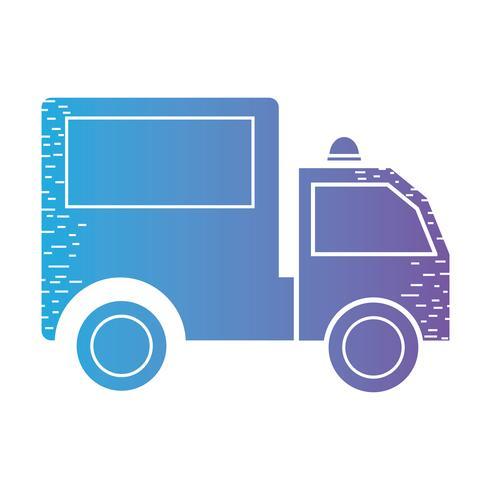 lijn kofferbak voertuig transport naar levering vector