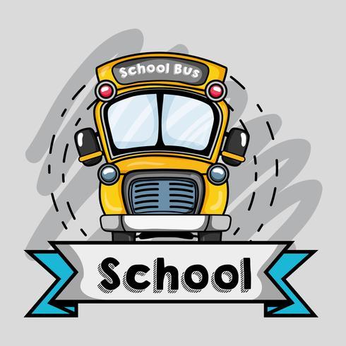 schoolbus transportontwerp naar student vector