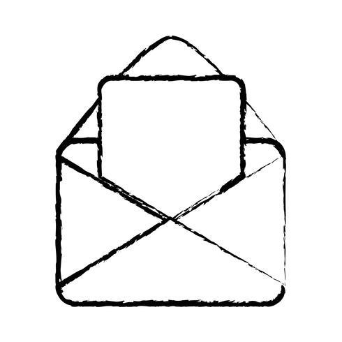 figuur kaart bericht met brief document informatie vector