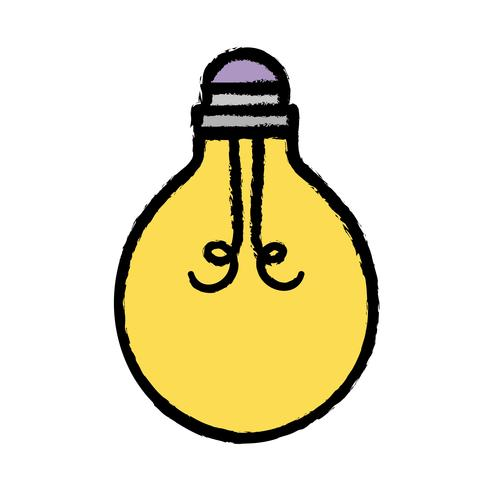 gloeilamp energie object pictogram vector