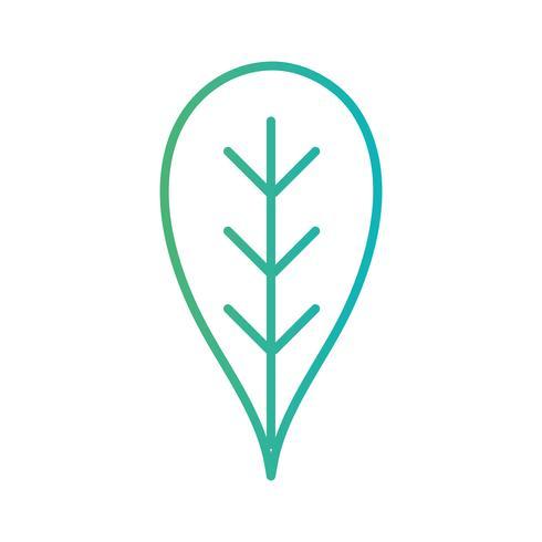lijn natuurlijke blad ecologie zorg vector
