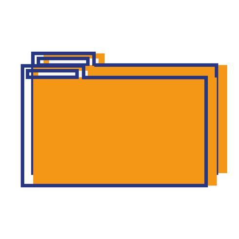 kleurenmapbestand om documenteninformatie op te slaan in het archief vector