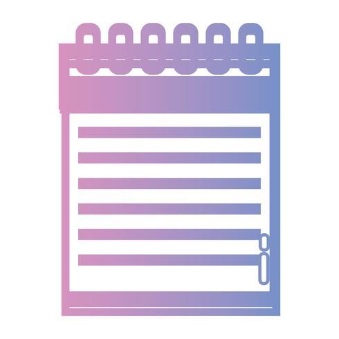 lijn notebookpapier objectontwerp om te schrijven vector